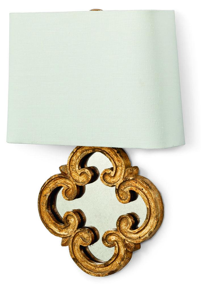 Стильное бра Motif Mirror добавит элегантности любой комнате. •Цоколь под лампы Е12.             Материал: Металл, Зеркальное стекло.              Бренд: Hampton Lighting.              Стили: Арт-деко.              Цвета: Желтый.
