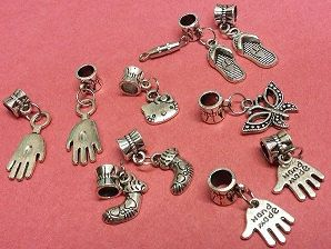 Jewelry Charms hands socks flip flops cat by Stitchinthread