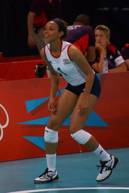Savanah Leaf - Olympic Women's Volleyball - Team GB vs Algeria by littledutchboy, via Flickr