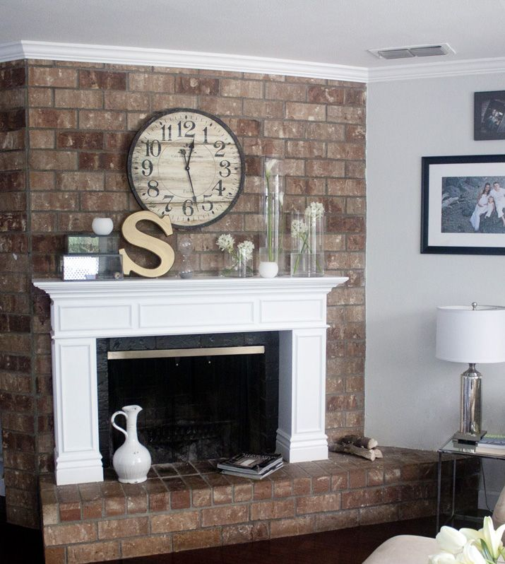 Best 25+ Brick Fireplace Mantles Ideas On Pinterest