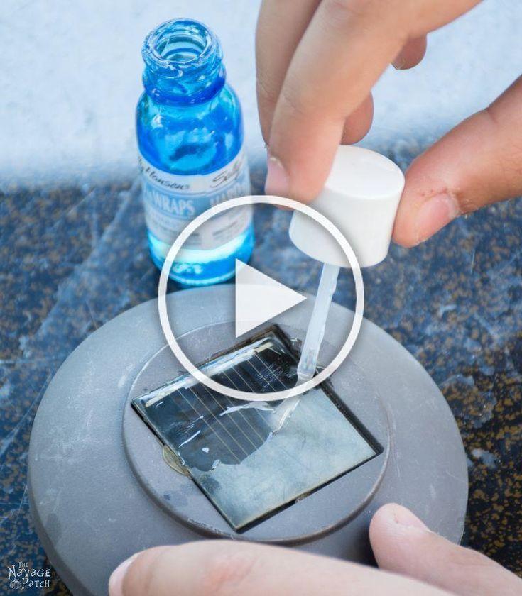DIY Cedar Cube Solar Landscape Lights DIY solar outdoor