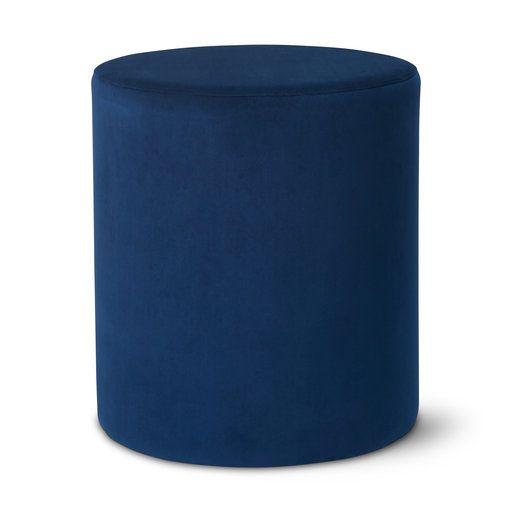 Sittpuff sammet, 41x47 cm, blå