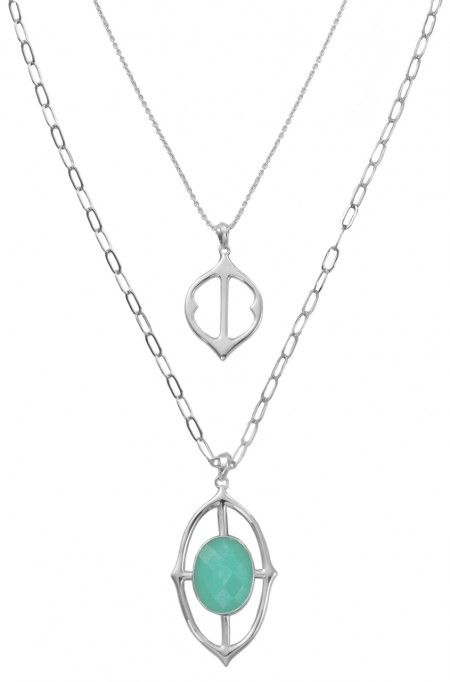 Discover elegant, key statement necklaces like the Fortuna Stone Drop Pendant Necklace. Find your favorite stone pendant necklace & more from Stella & Dot.
