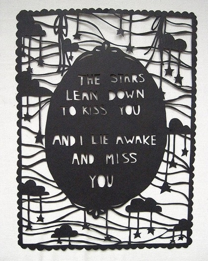 I love the paper cutting idea for lyrics or quotes :O this