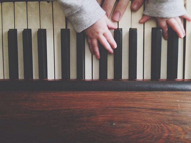 Baby playing piano...