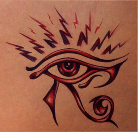 Eye Of Horus Tattoo Design
