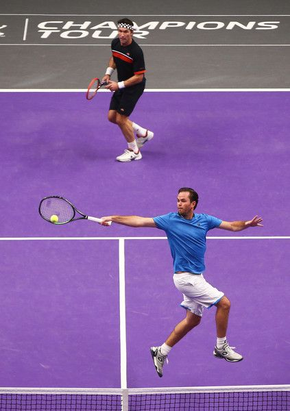 Xavier Malisse and Pat Cash