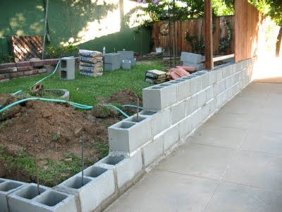 Privacy Fence With Cinder Block Base For Extra Height