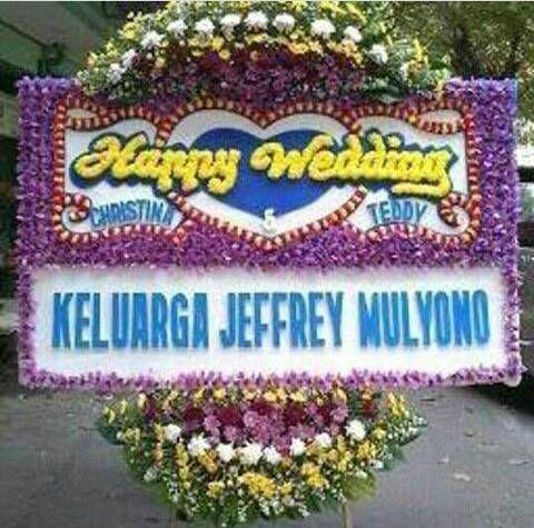 TOKO BUNGA PAPAN WEDDING KARAWANG