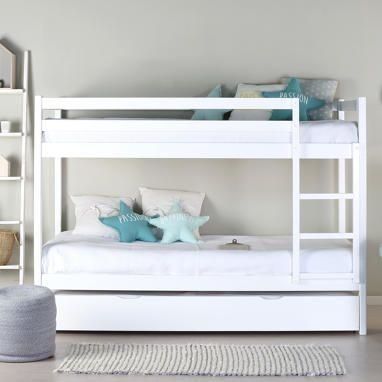 Kivu litera blanca con cama nido arrastre