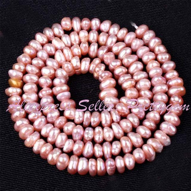 """2-3x3-4mm Natürliche Freeform Süßwasser Perle Stein Perlen Spacer Strang 14 """"Für DIY Halskette Armband Schmuckherstellung, Freies Verschiffen"""
