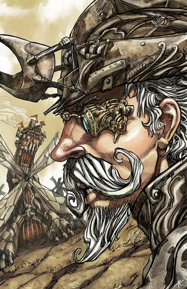 Don Quixote Steampunk by Sergio Acuña, via Behance