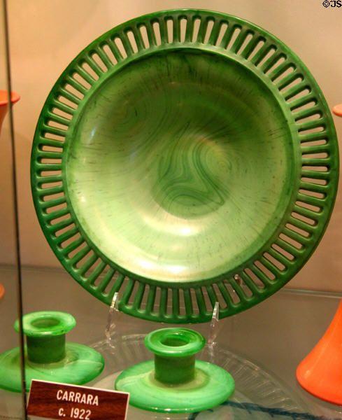 Tiffin Glass Museum | Carrara glass (c1922) at Tiffin Glass Museum. Tiffin, OH.