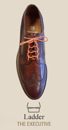 Ladder  Learn How to Lace Your Dress Shoes with ALLEN EDMONDS  AD -   An illustrated how-to guide to our favorite lace upsTrendy, stylish, sophisticated or cool, there's more than one way to lace a shoe. Find a pattern that fits your personality