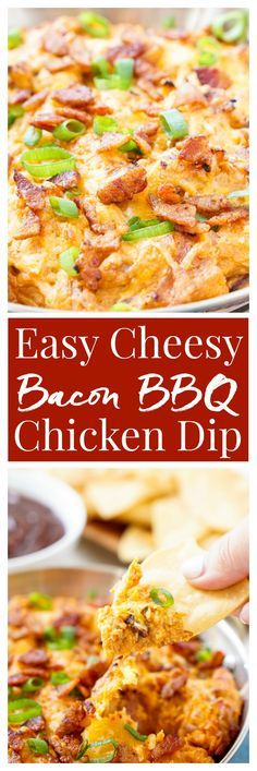 This Cheesy Bacon BBQ Chicken Dip will be the winning dish at your next game day…