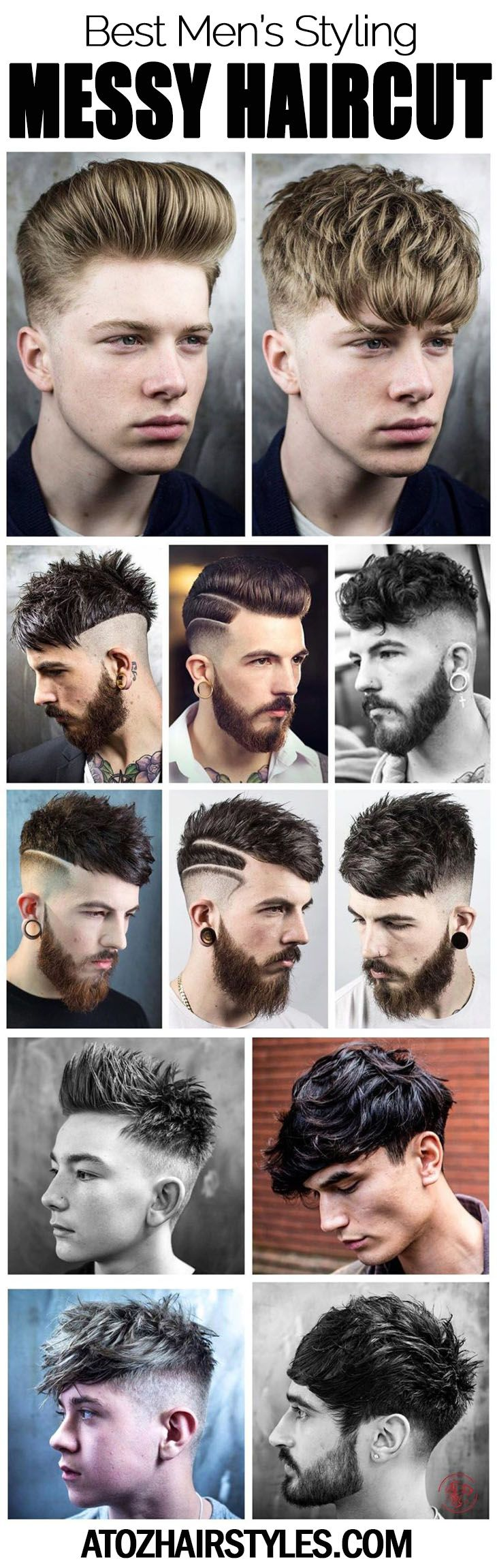 Men's messed up haircuts not the slightest bit at all suggest a look that is not administered to. Rather, men's messy hair does allude to a trim that is deliberately relaxed and hip with controlled uncertainty.