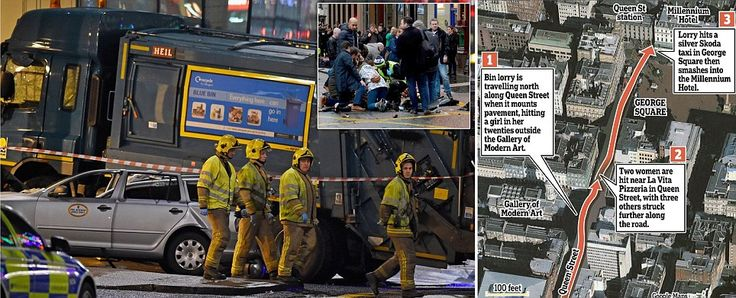 Omg! Bin Lorry smashes into Christmas shoppers in Glasgow city centre, killing Six.