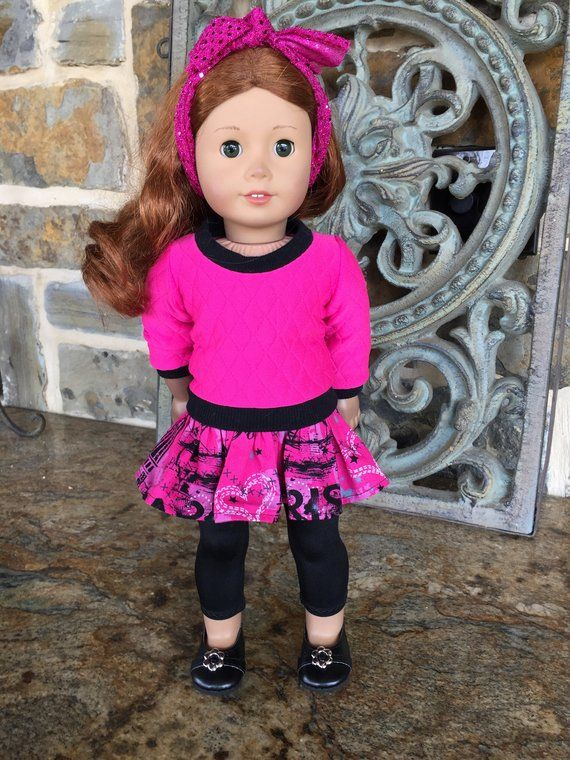 Tan Ruffled Skirt made fits 18 inch American Girl Doll Clothes