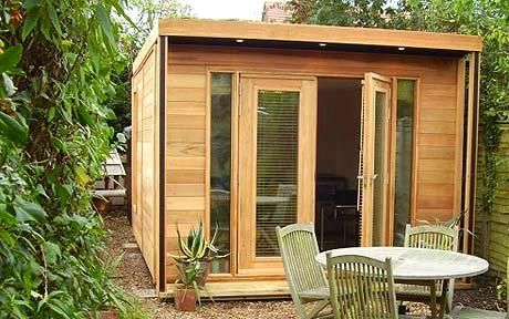 Eco Den's timber extendable office