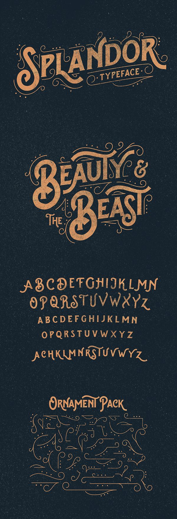 Splandor Typeface by Ilham Herry, via Behance