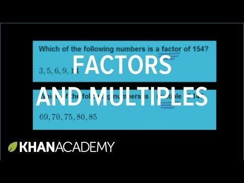 28 best math images on pinterest teaching ideas teaching math and finding factors and multiples video khan academy fandeluxe Gallery