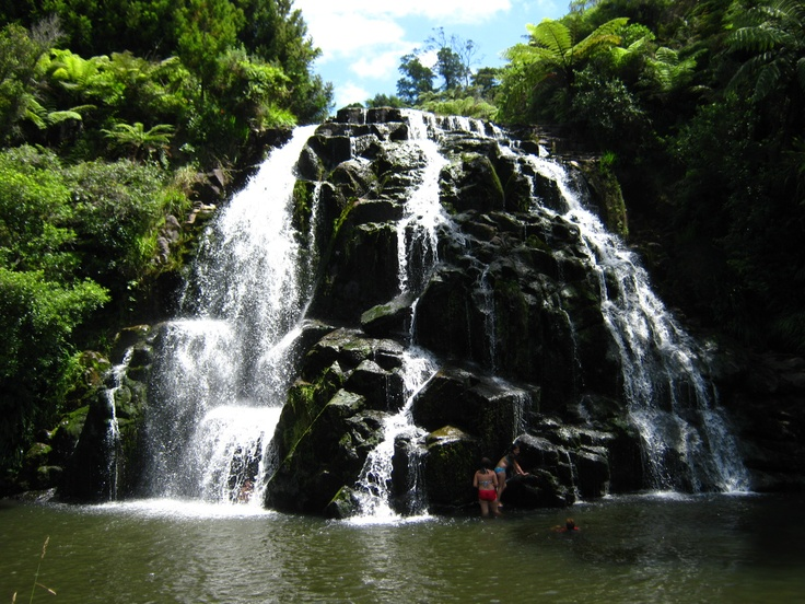 The Beautiful Owharoa Falls, Bay of Plenty, New Zealand