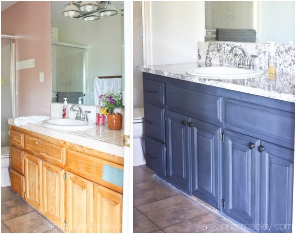 bathroom vanity makeover with chalkworthy antiquing paint and a giveaway ask anna