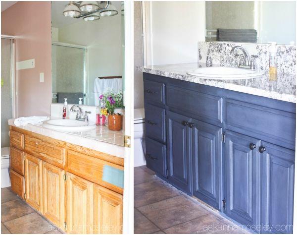 Bathroom Vanity Makeover best 25+ painting bathroom vanities ideas on pinterest | paint