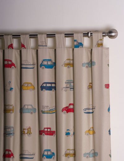 Retro Cars Curtains