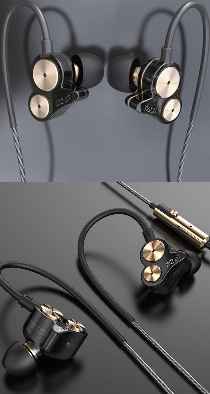 DZAT DT-05 Dual Dynamic Drive Unit Noise Cancelling Super Bass In-ear Earphone Headset for Cellphone