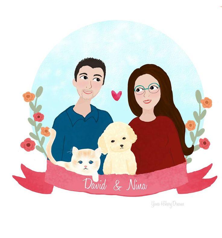 Nuevo dibujo para otro cliente Emoticón smile ( Si alguien quiere que dibuje a su familia con este estilo de dibujo u otro que contacte a mi correo yuna.hkarydreams@gmail.com ) Gracias y espero que os guste ^^