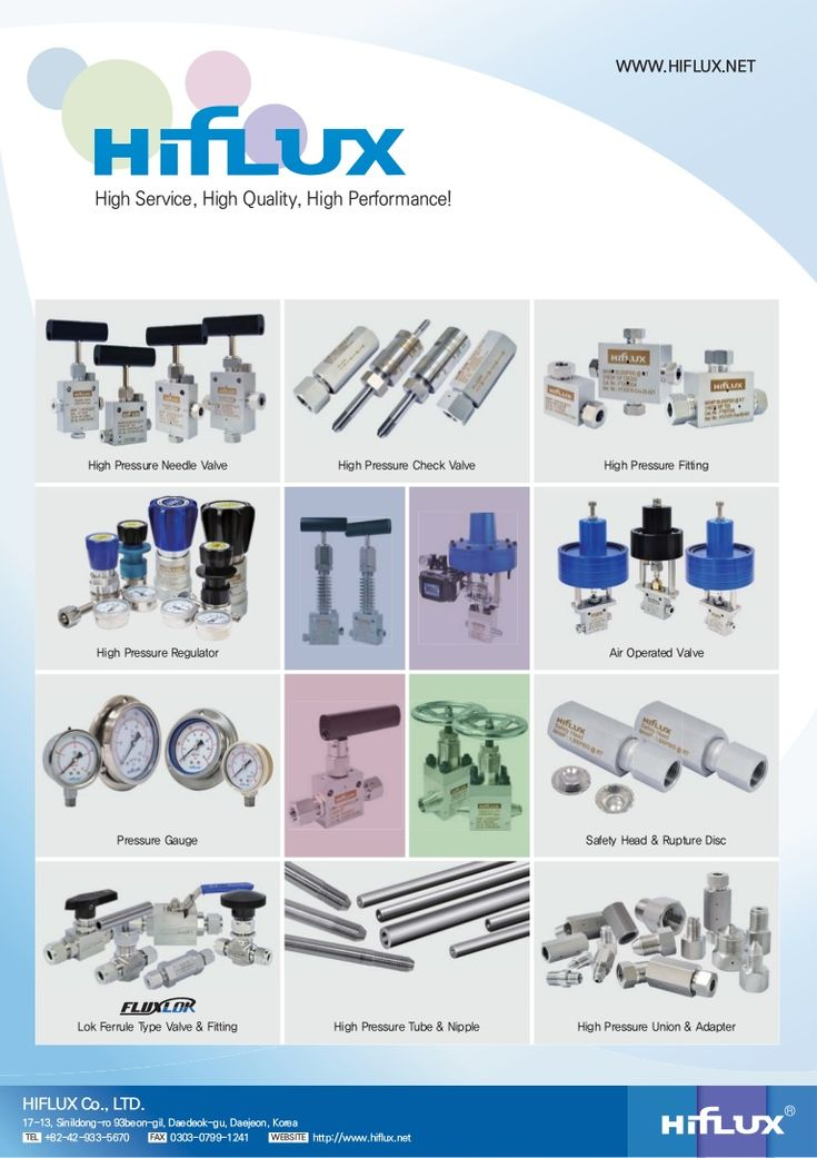 [HIFLUX] High Pressure Air Operated Valve Catalog