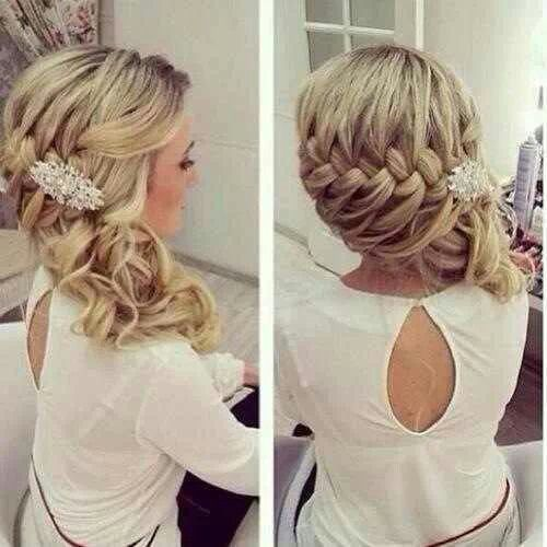 Semirecogido al lado trenzado. / #bodas #wedding #bride #hair #braid # peinado #hairstyle #trenzas