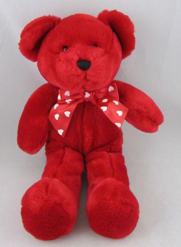 Crystal Temptations Plush Stuffed Red Teddy Bear Animal Beans Cute | eBay