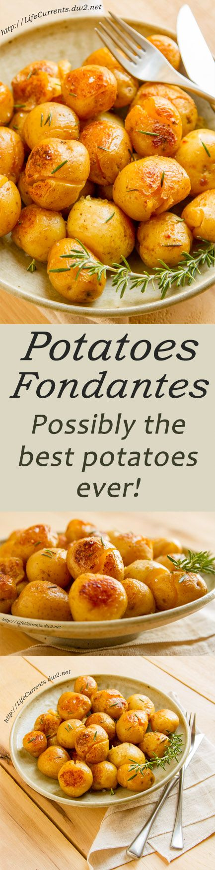 Potatoes Fondantes or smashed potatoes are a great side dish that your whole family will love! I always get tons of requests for this recipe!