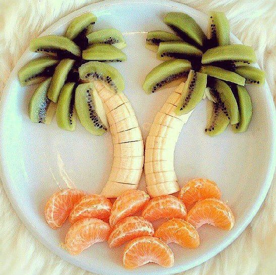 Have fun with fruit! Love this idea for food art. #playwithyourfood