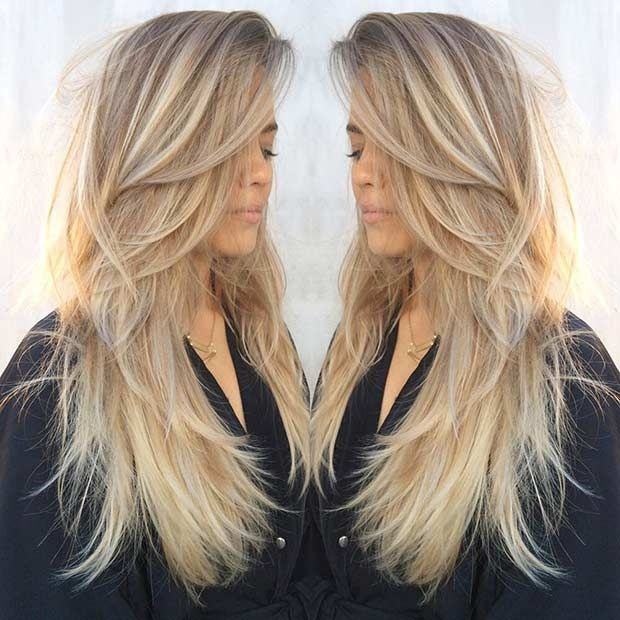Long, Layered Blonde Hair