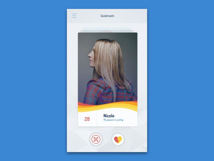 Color dating app prototyping animation by Mateusz Jurkiewicz