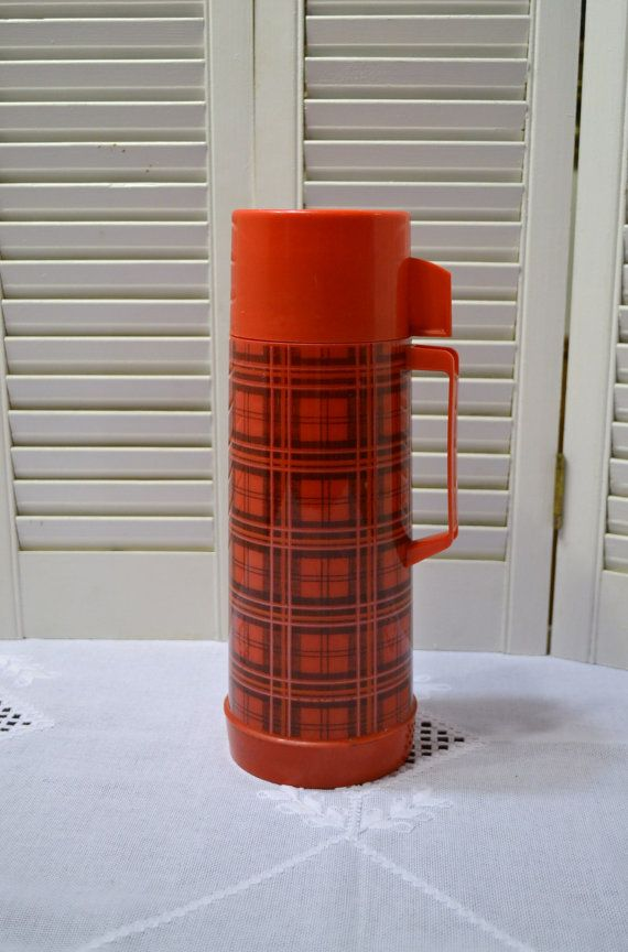 Hey, I found this really awesome Etsy listing at https://www.etsy.com/listing/231239234/vintage-aladdin-thermos-red-plaid