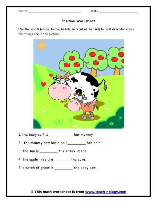Printables Position Worksheets For Kindergarten 1000 images about relative positions on pinterest other people kindergarten math worksheets standards met position