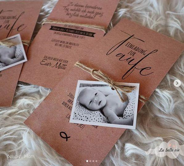 Einladungskarten zur Taufe – La belle vie