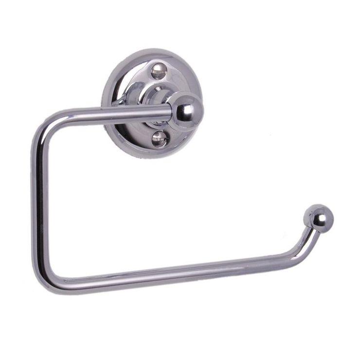 Haga toalettrullehållare i krom, mässing eller brons