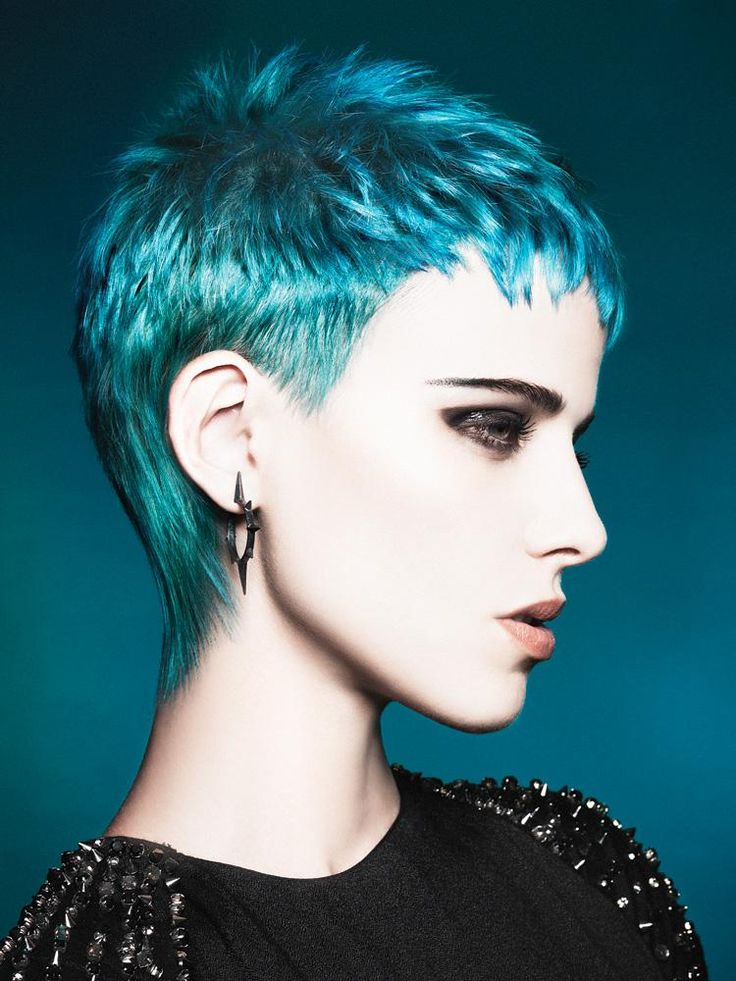 Short Pixie Cut in Turquoise | Hair styles I love ...