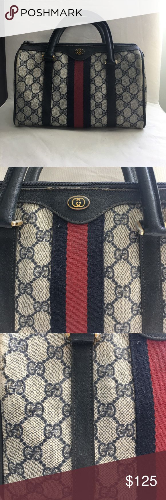 Vintage Gucci Purse Vintage Gucci Purse - very worn inside and outside of bag (priced accordingly) - Gucci monogram bag Gucci Bags
