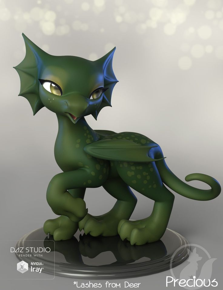 Stunning Precious Dragon D Models and D Software by Daz D