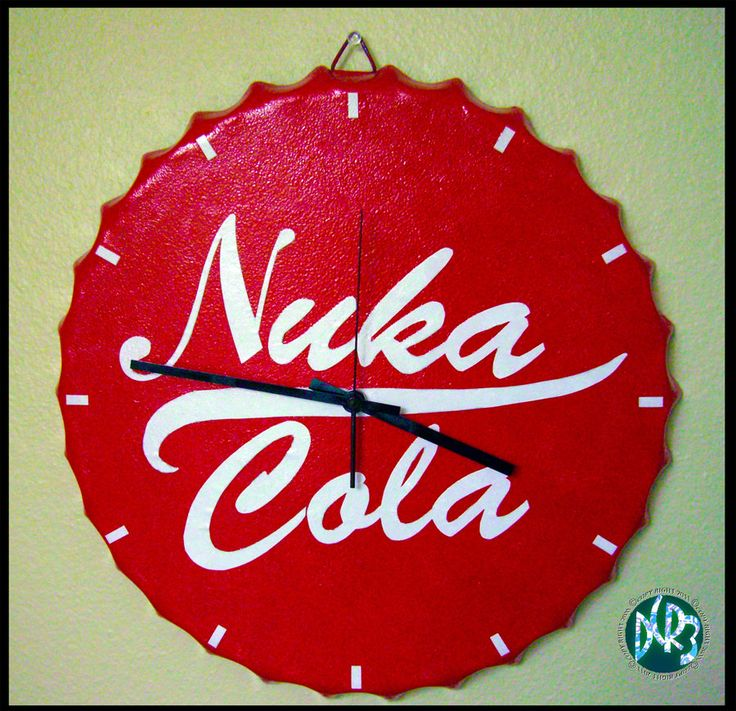 Here is a Nuka Cola bottle cap shaped clock I made. Link for My Fallout 3 & New Vegas Soda Bottles: My Mentats & Fixer link: Here is the link for the Nuka Cola Victory label I made.