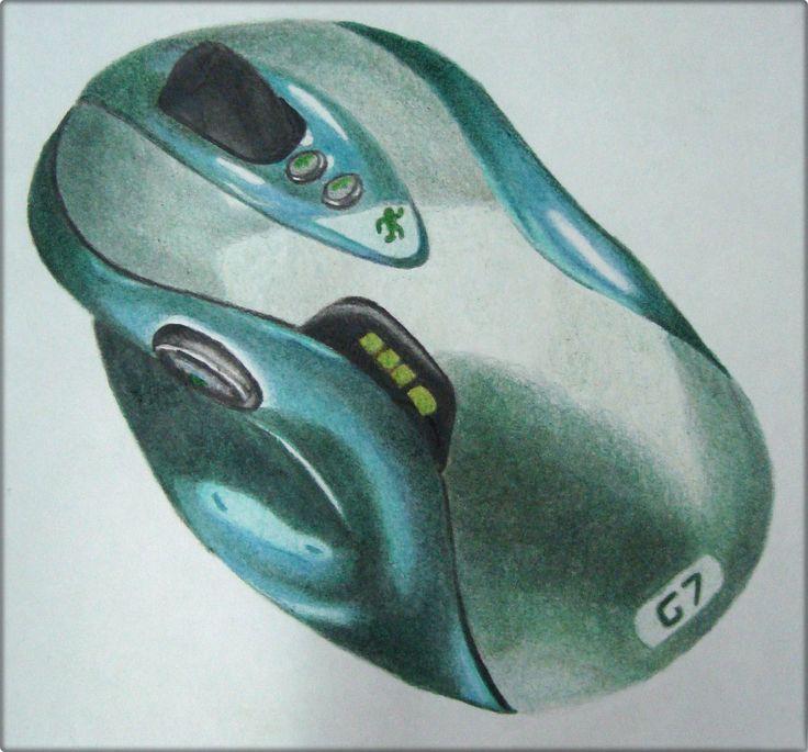 Ilustração Mouse com lápis de cor- Trabalho feito no 2º ano da Faculdade (2011) na disciplina de Metodologia Visual com o Profº Marcel Marchesi.