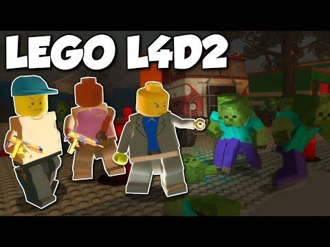 MINECRAFT ZOMBIES INVADE LEGO TOWN?! - Left 4 Dead 2 Gameplay - Lego