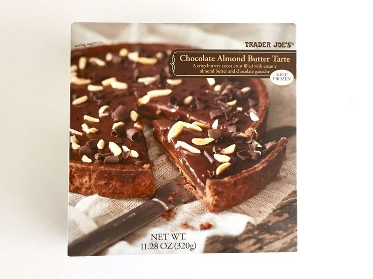Chocolate Almond Butter Tarte ($6) The new Chocolate Almond Butter Tarte is as decadent as it sounds and tastes as if it was purchased from an authentic French bakery. A creamy almond spread is layered into a butter and cocoa crust with chocolate ganache, topped with dark chocolate and roasted almond sticks.  PREVIOUS  Best New Trader Joe's Products 2017 | POPSUGAR Food