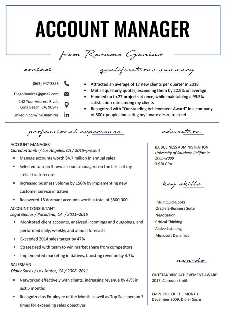 Business Management Resume Templates in 2020 Job resume